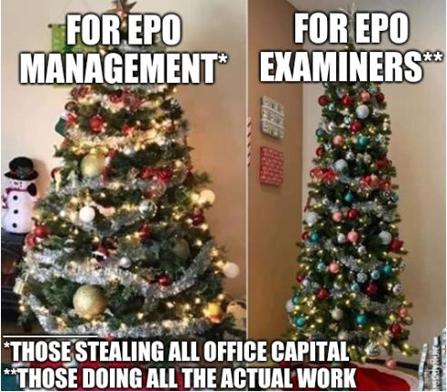 For EPO Management: those stealing all office capital; those doing all the actual work