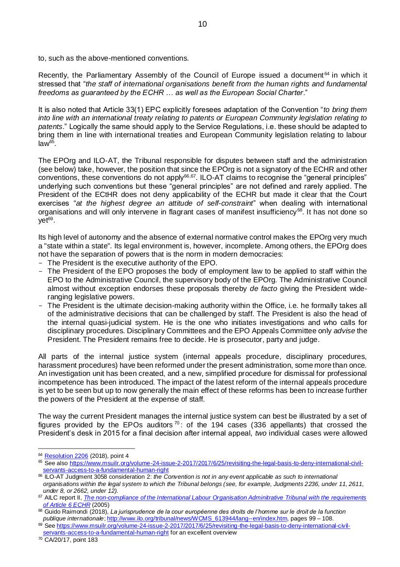 EPO governance p10