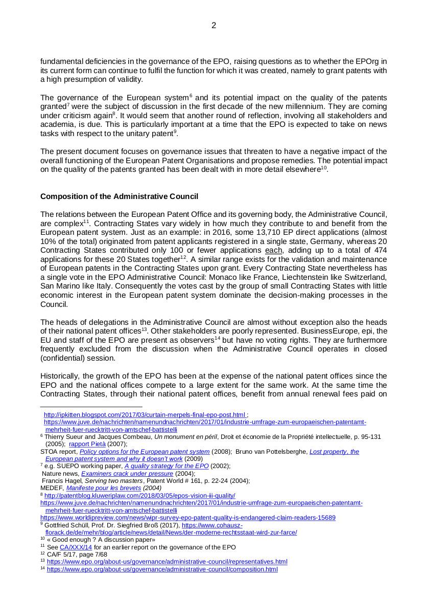 EPO governance p2