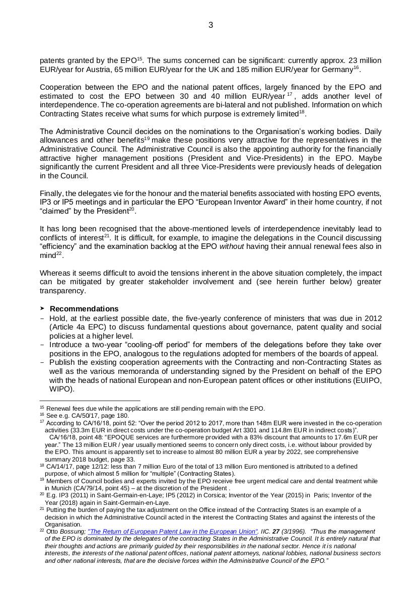 EPO governance p3