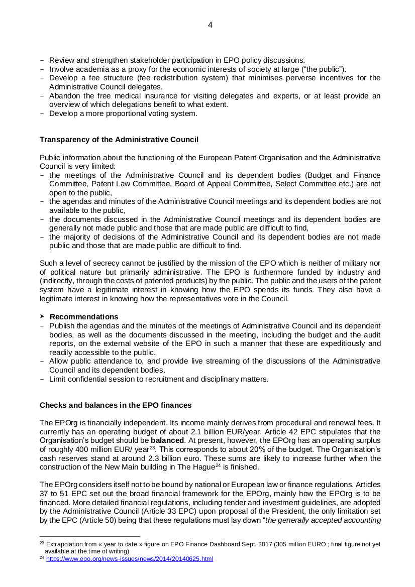 EPO governance p4