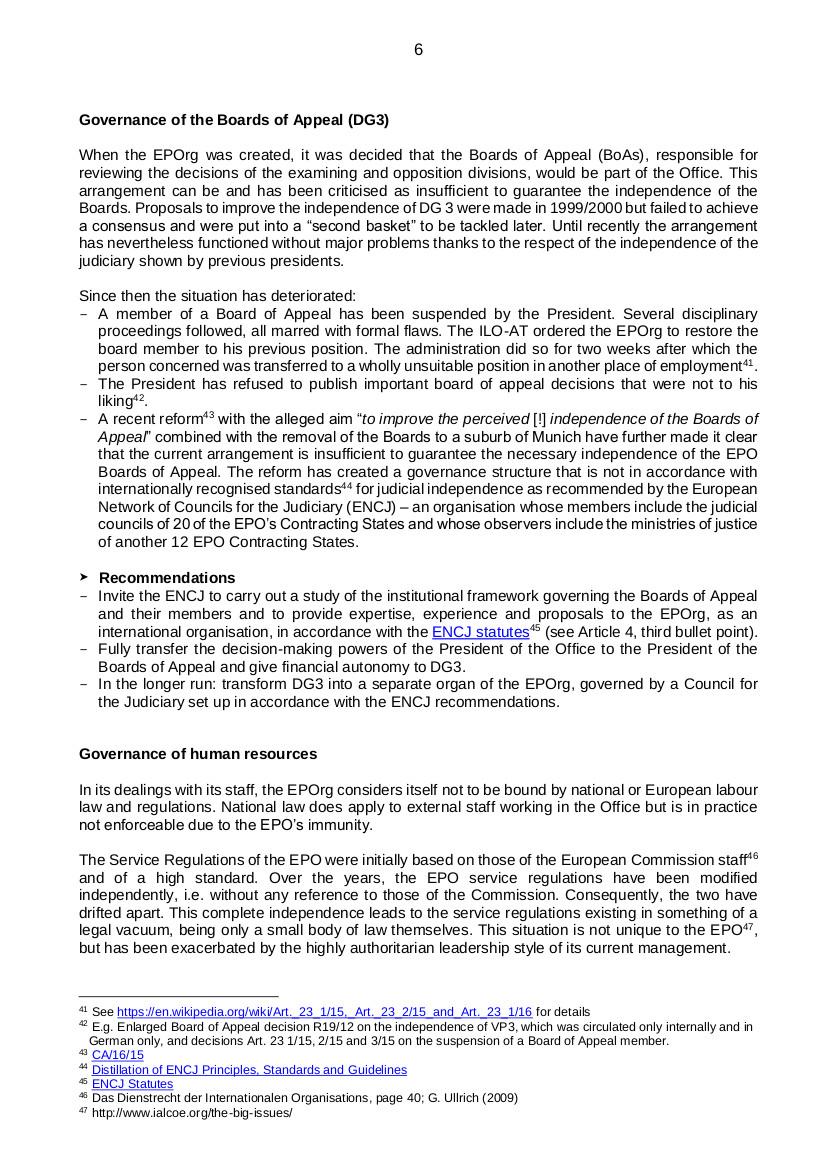 EPO governance p6
