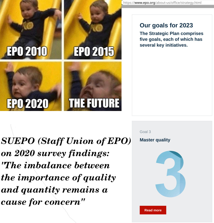 EPO 2020, The Future: SUEPO (Staff Union of EPO) on 2020 survey findings: 'The imbalance between the importance of quality and quantity remains a cause for concern'
