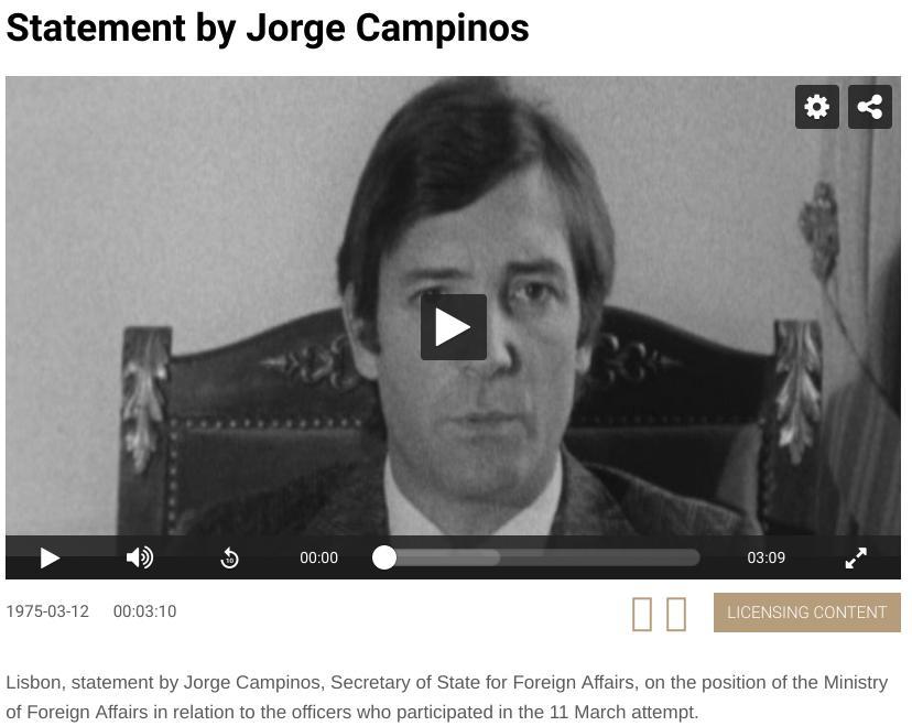 Declaração de Jorge Campinos