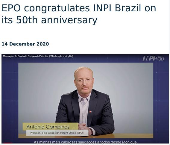 António Campinos photo op Brazil