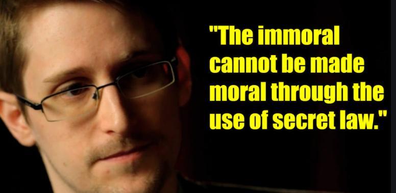 Snowden on secret law