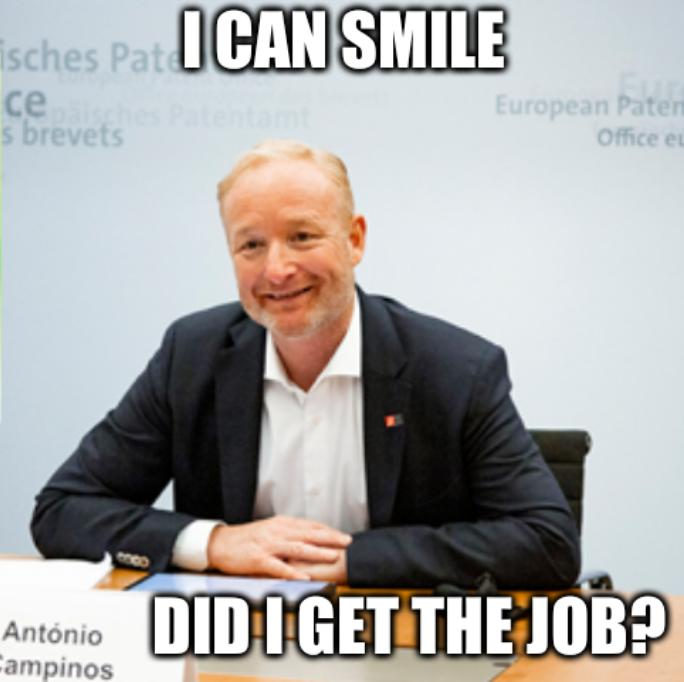 I can smile. Did I get the job?