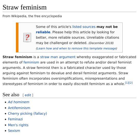Straw feminism