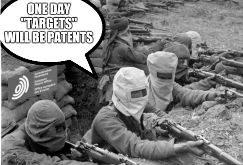 One day 'targets' will be patents