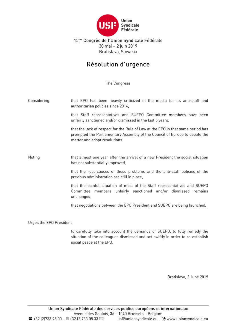 USF letter 2019
