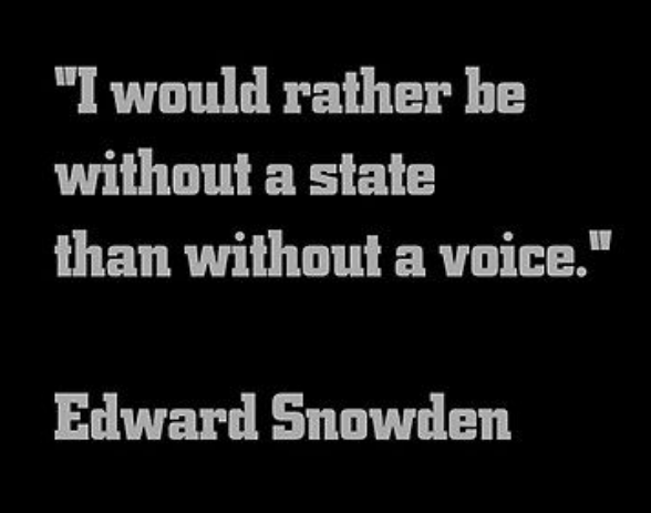 Snowden on... without a state