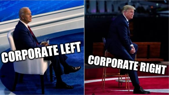 Biden-Trump Town Halls: Corporate left; Corporate right