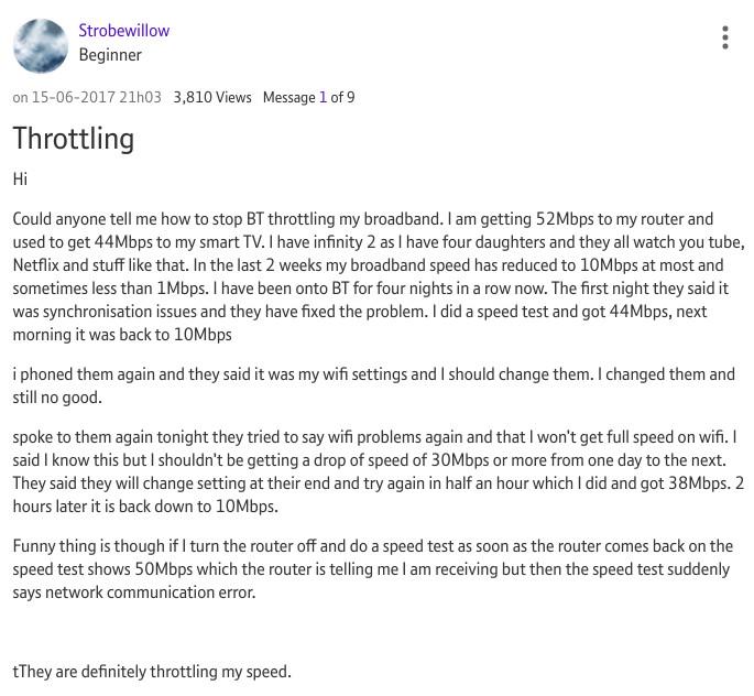 BT throttling example #4
