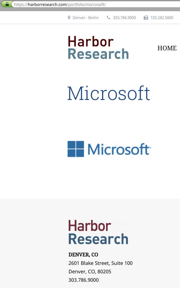 Harbor Research and Microsoft