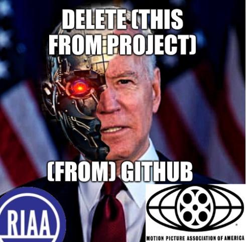 Joe Biden GitHub: Creepy cyborg Joe: Delete (this from project) (from) Github