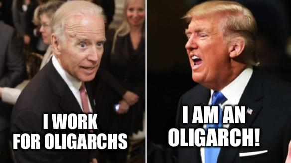 Biden vs Trump fake polls: I work for oligarchs; I am an oligarch!