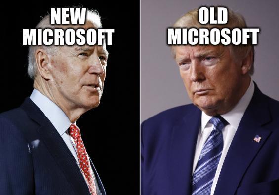 Trump v Biden: New Microsoft; Old Microsoft
