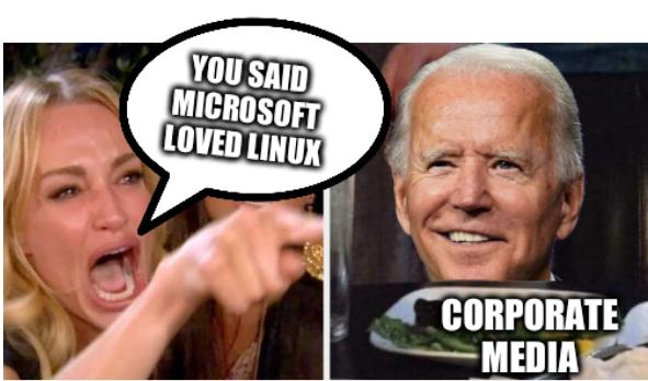 Woman Yelling at Biden Cat: You said Microsoft loved Linux