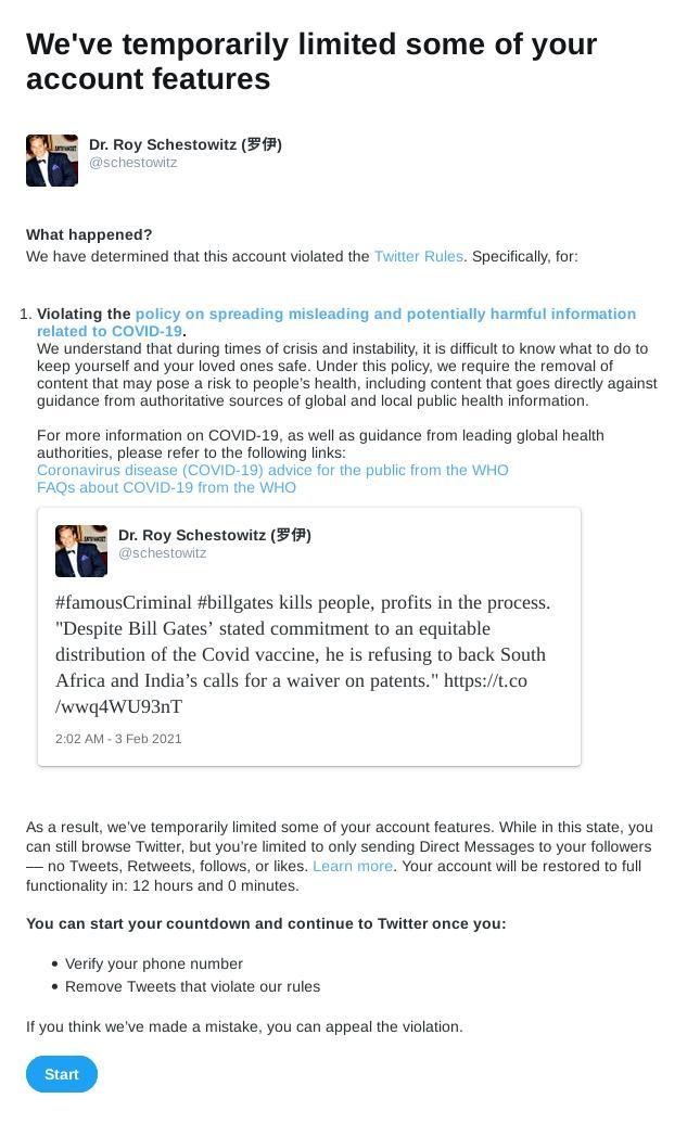 Bill Gates Twitter censorship