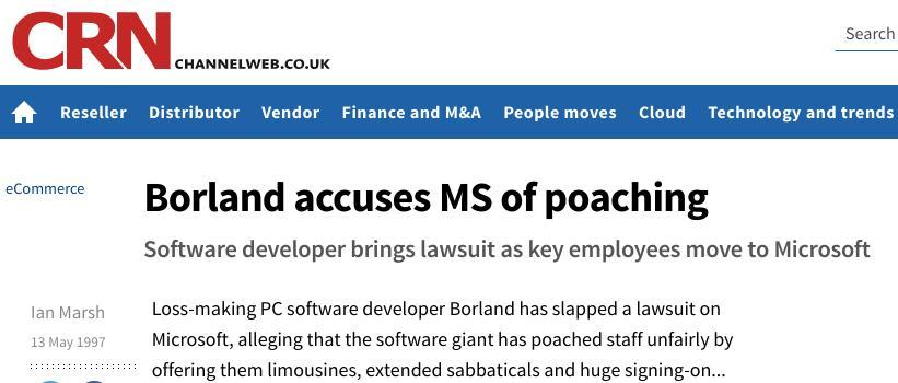 Borland lawsuit