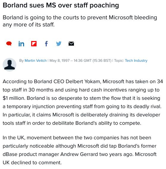 Borland and Microsoft