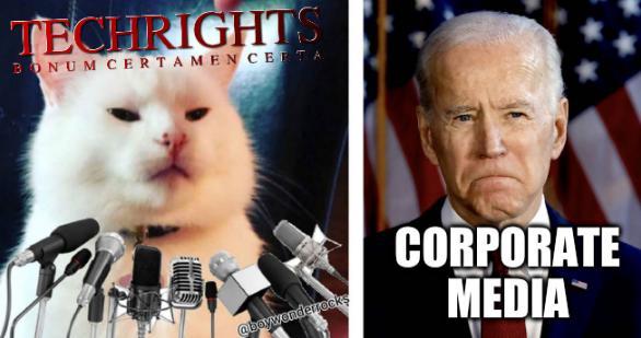 Smudge and Biden Template: Corporate media
