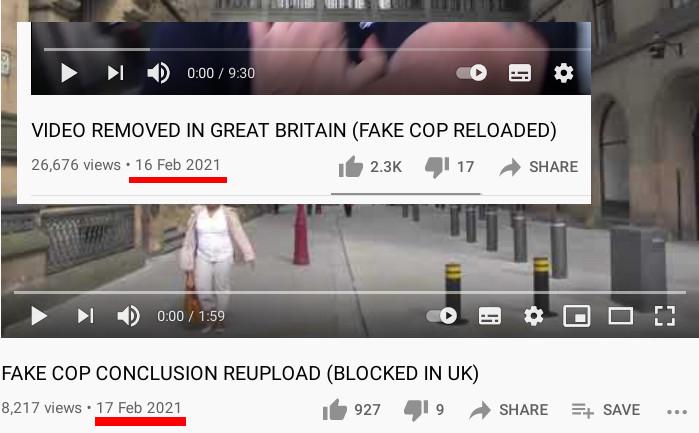 Fake cops censorship