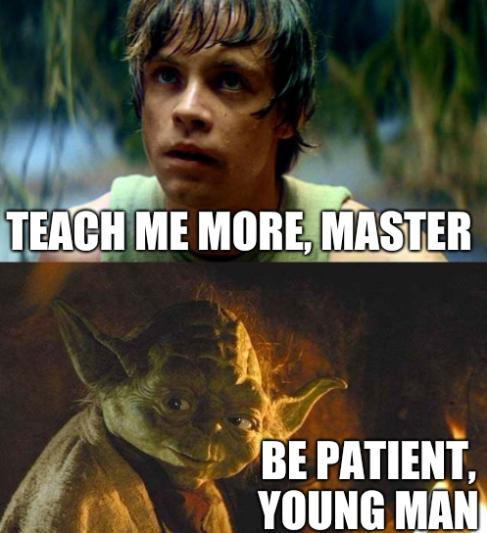 Teach me more, master. Be patient, young man.