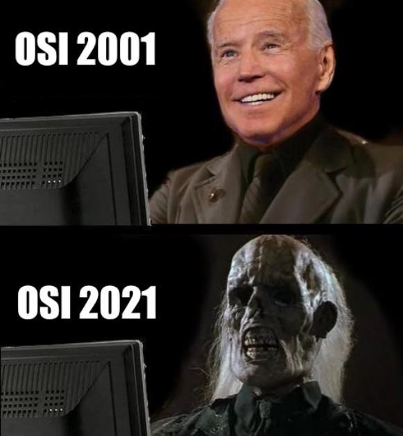 Joe Biden I'll just wait here/OSI meme/OSI 2021
