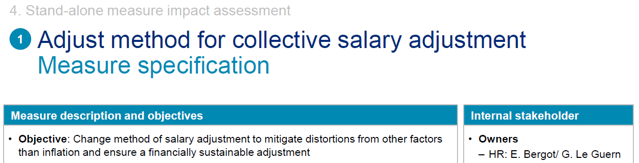 Salary adjustment page zoomed in