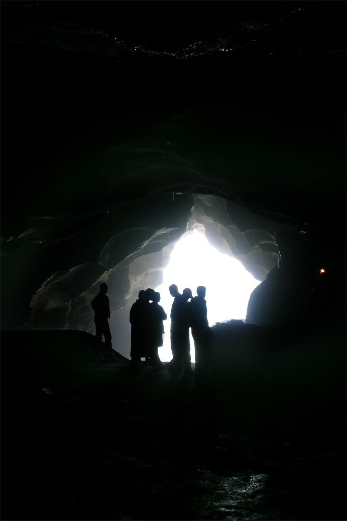 People inside a cave