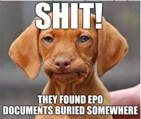 Shit! They found EPO documents buried somewhere.