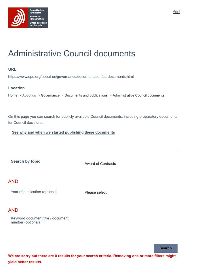 EPO transparency