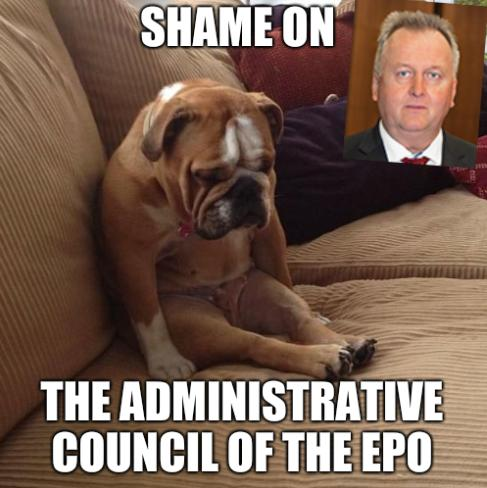 Shame on the Administrative Council of the EPO
