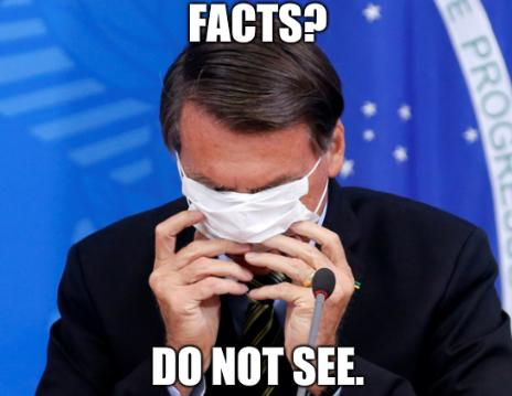 Bolsonaro: Facts? Do not see.