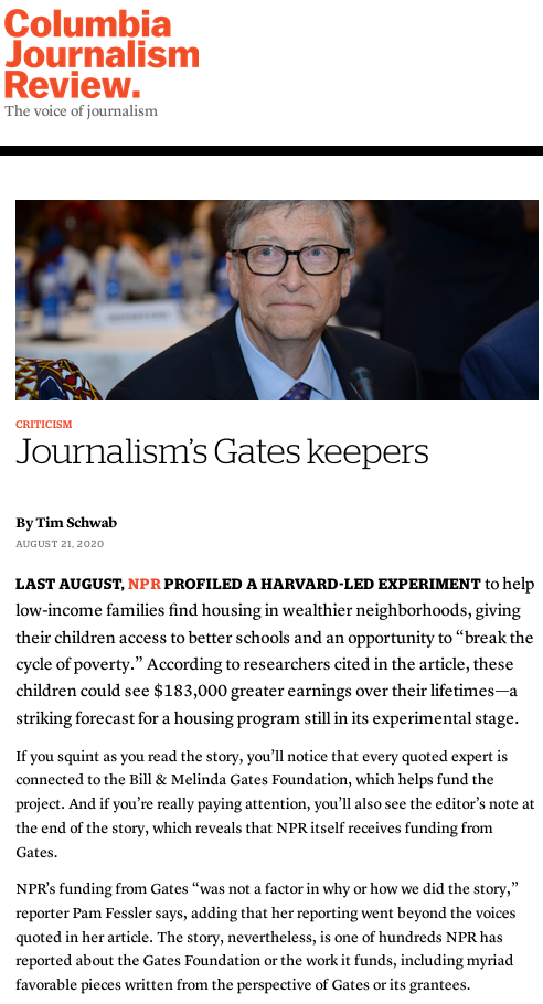 Journalism's Gates keepers