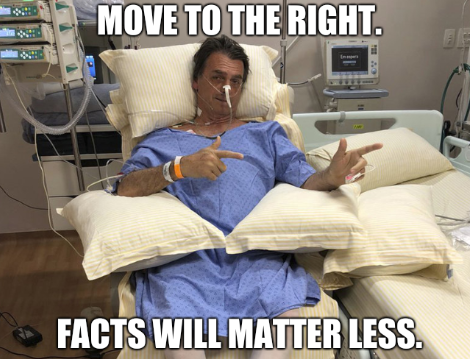 Move to the right. Facts will matter less.