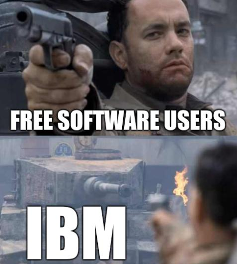 Free software users, IBM