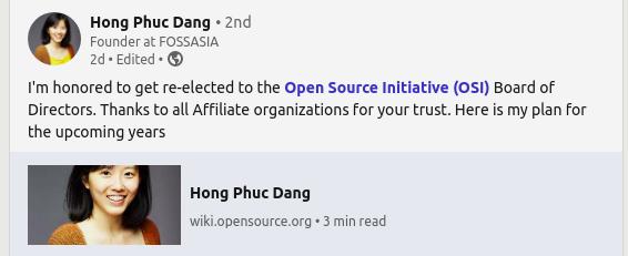 Hong Phuc Dang announces victory on LinkedIn