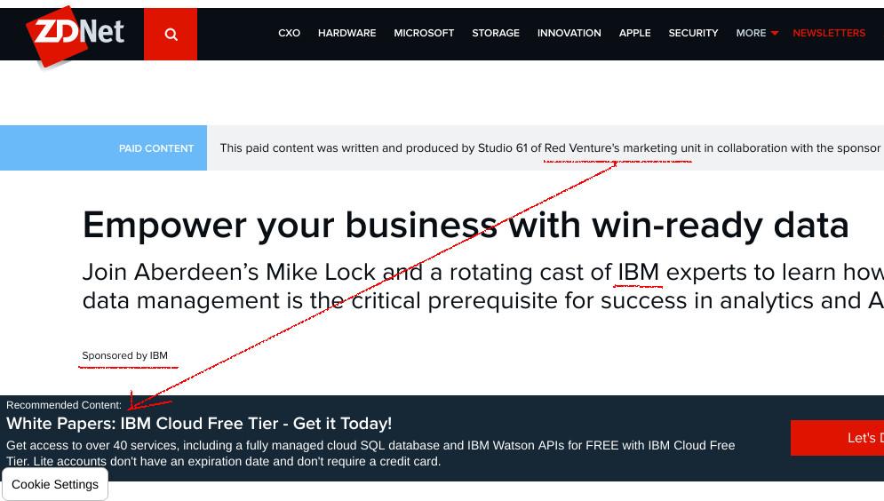IBM-funded 'media'
