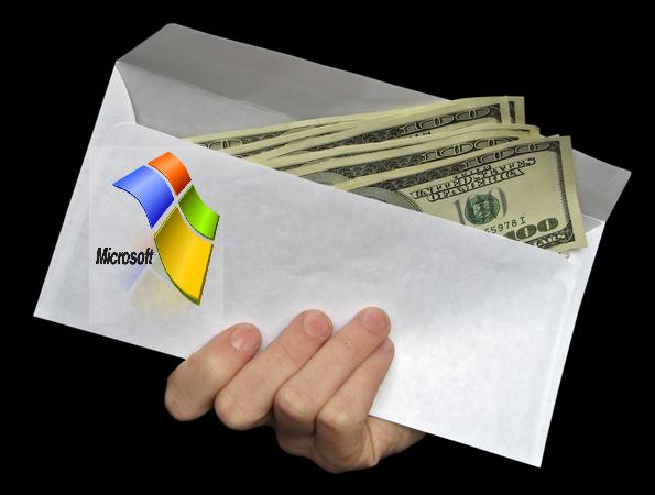 Microsoft bribe