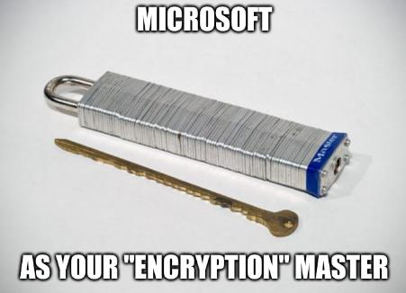 Microsoft as your 'encryption' master