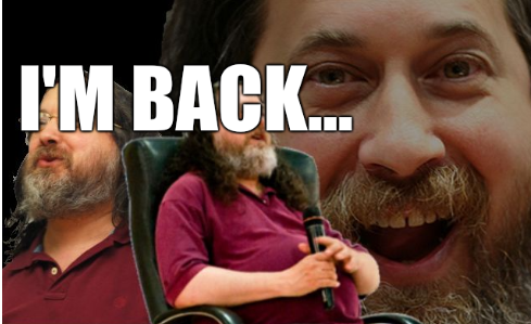 Richard Stallman is back