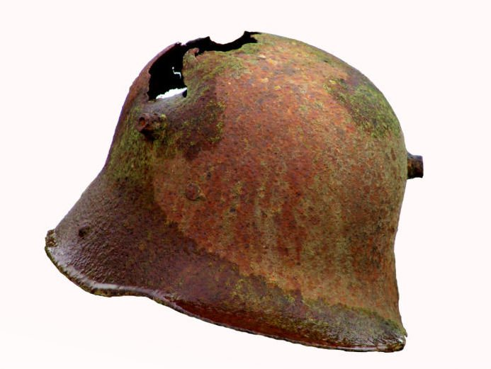 Rusty German Helmet