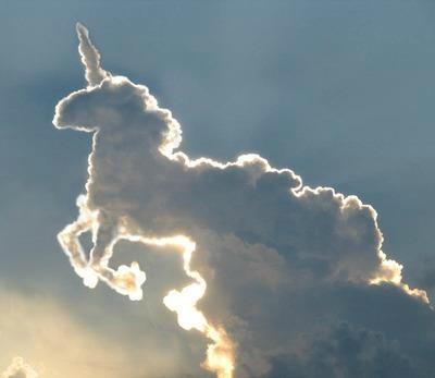 A unicorn cloud