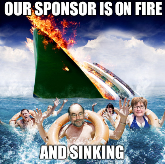 ZDNet: Our sponsor is on fire and sinking