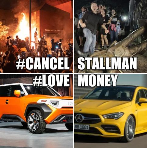 #Cancel Stallman  #Love Money