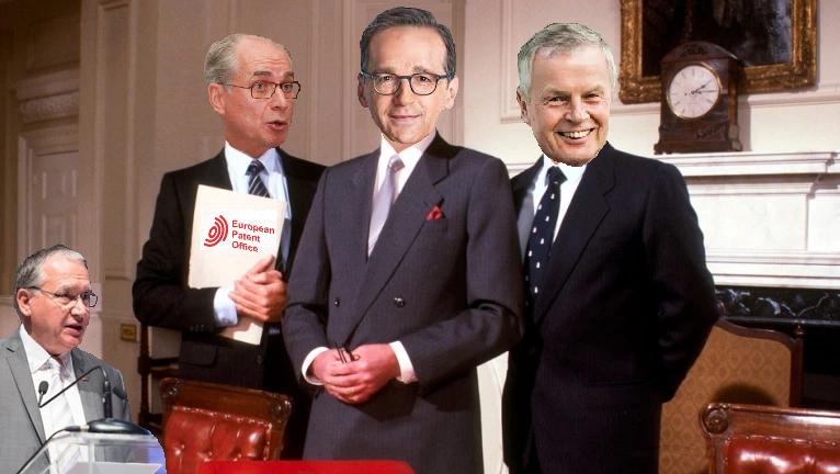 Raimund Lutz, Heiko Maas and Christoph Ernst