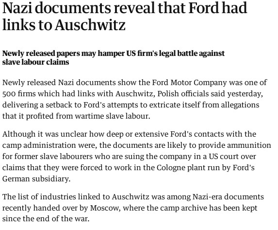 Ford and death camps