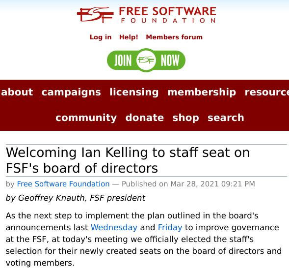 FSF board